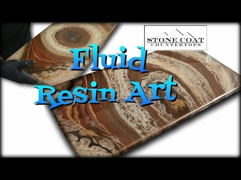Fluid Resin Art step by step