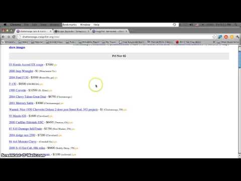 Craigslist Tennessee Used Cars for Sale by Owner - YouTube