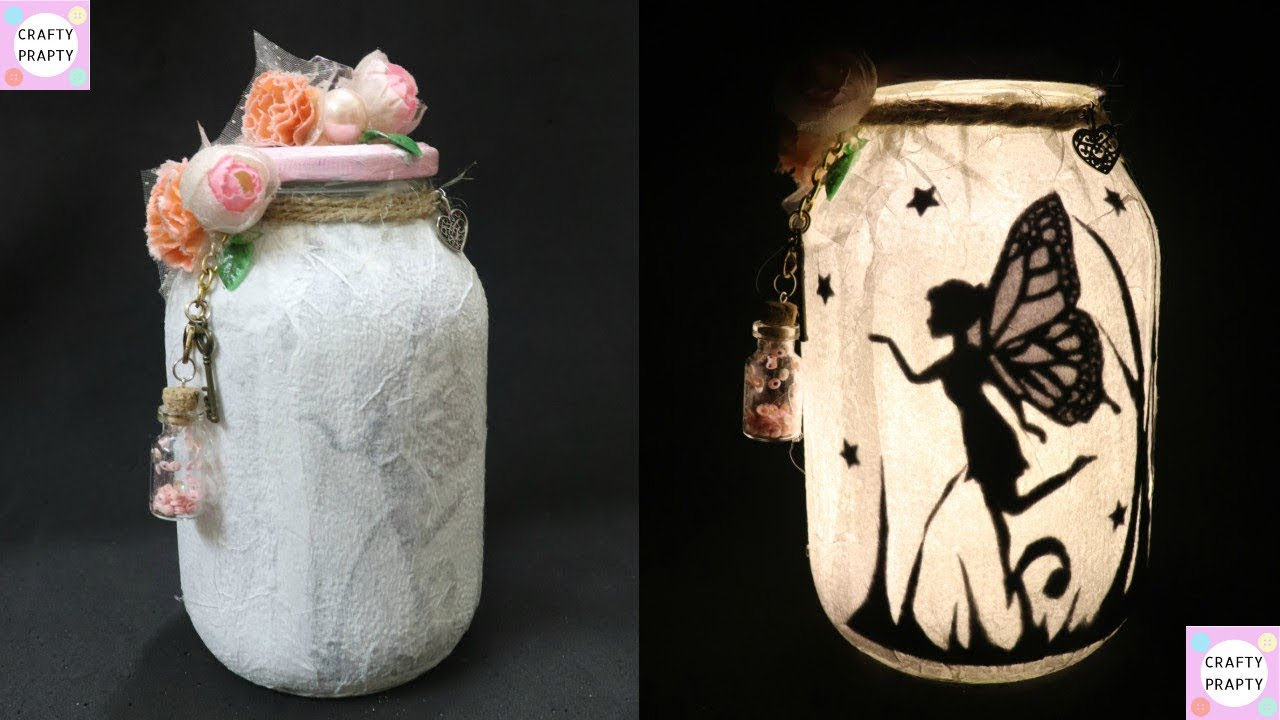 Diy Fairy Jar Fairy Lantern Tutorial Diy Fairy Glow Jars No Tissue Paper Mason Jar Fairy Lanterns Youtube