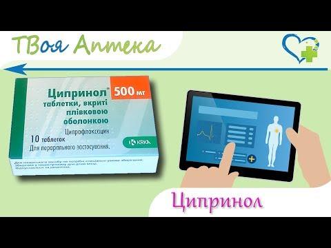 Ципринол таблетки - показания (видео инструкция) описание, отзывы