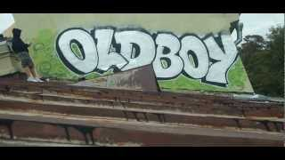Oldboys on the rooftop 3 (russian graffiti)