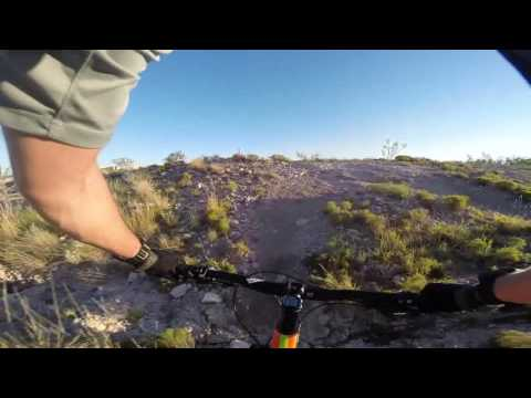 Mountain Bike Park, Odessa TX - Full Red and Blue Loop
