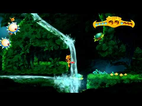 Rayman Legends Back To Origins Jibberish Jungle Still Flowing All Teensies Walkthrough