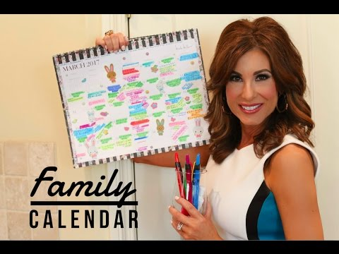 How To Create A FAMILY CALENDAR   Tips with TRACY