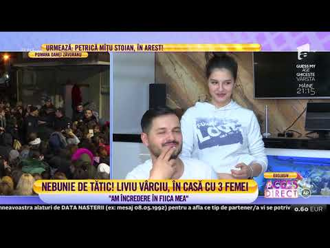Liviu Varciu, în casă cu trei femei: