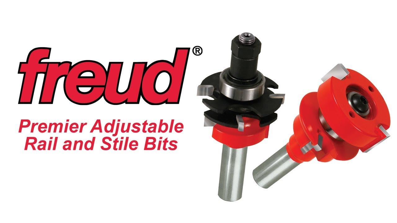 Freud Premier Adjustable Rail Stile Router Bit Sets Youtube