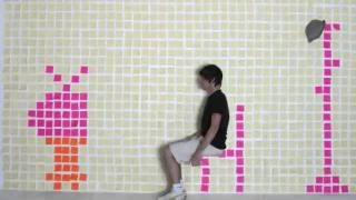 Stop motion en post it semaine de l'animation 2010