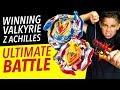 Beyblade Cho Z Metal Burst Battle! Winning Valkyrie vs Z Achilles!