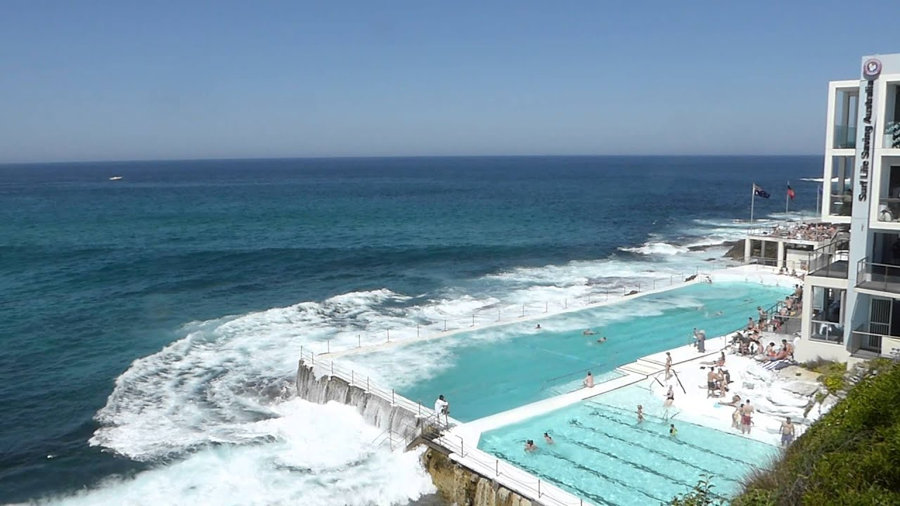 Swimming pool being refilled Bondi Beach  YouTube