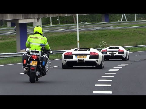 Lamborghini Murcielago LP640 BUSTED By The Police [License Plate Flipper]