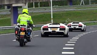Lamborghini Murcielago LP640 BUSTED By The Police [License Plate Flipper]