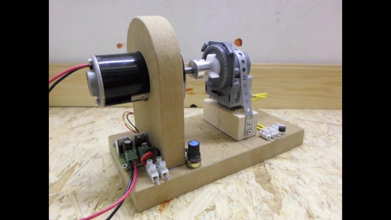 Dc motor dishwasher drain motor the gerard morin setup Dc motor to generator