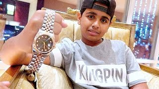 Repeat youtube video DUBAI'S RICHEST KID GETS $30,000 DOLLARS ROLEX !!!