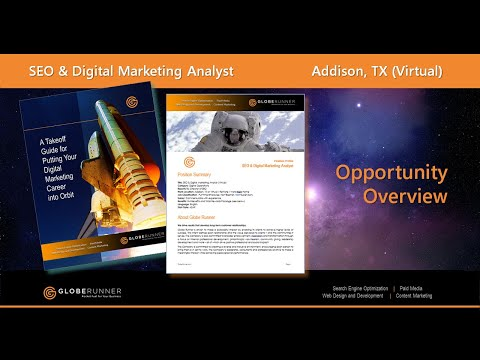 Globe Runner SEO and Digital Marketing Analyst - Opportunity Overview
