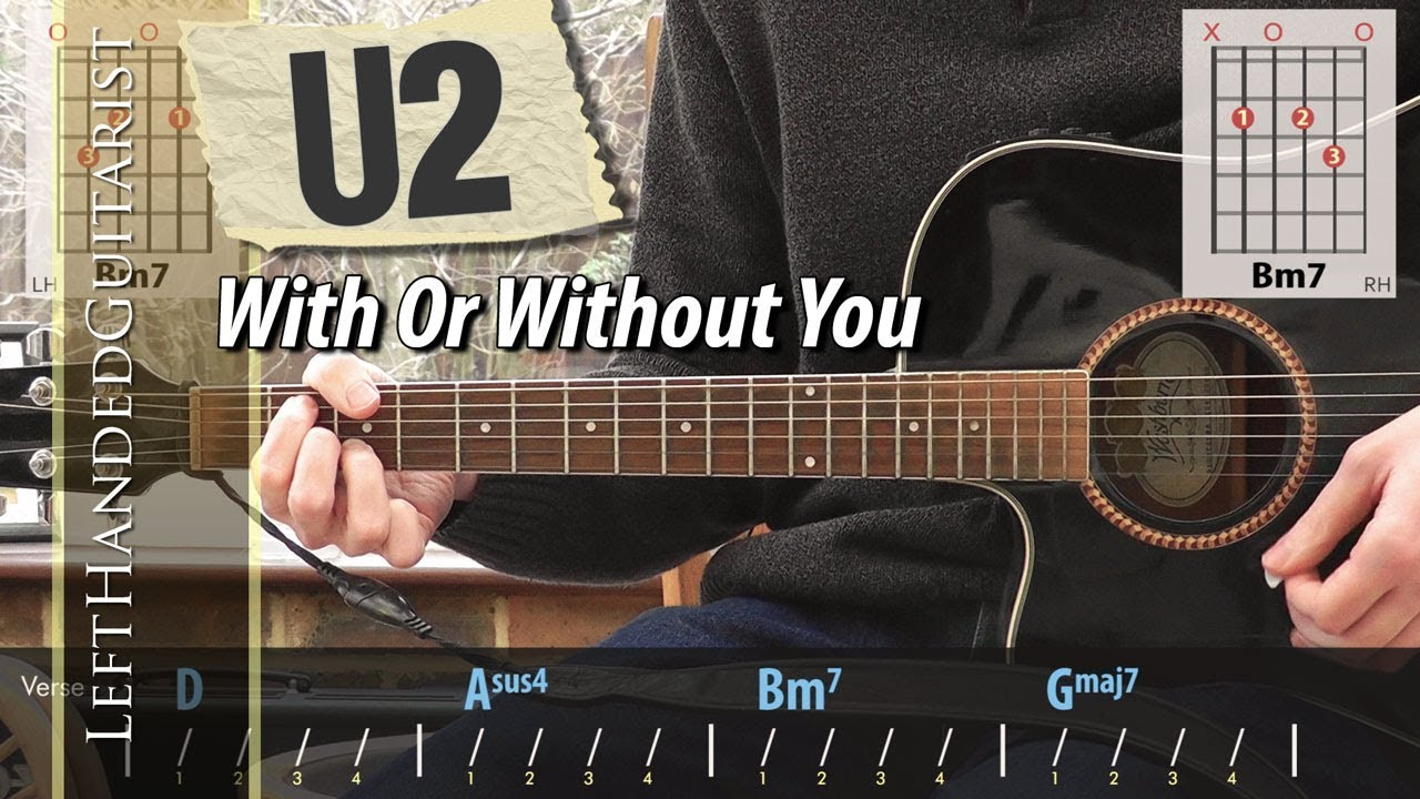 U2 With Or Without You Acoustic Guitar Lesson Youtube