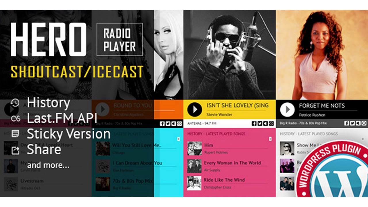 Hero - Shoutcast and Icecast Radio Player With History - WordPress Plugin   Codecanyon Scripts and - YouTube