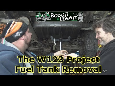 The W123 Project Fuel Tank Removal part 2 Bodgit And Leggit Garage