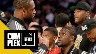 Dwyane Wade on His Current Relationship With Kevin Hart: 'We're Not Friends'