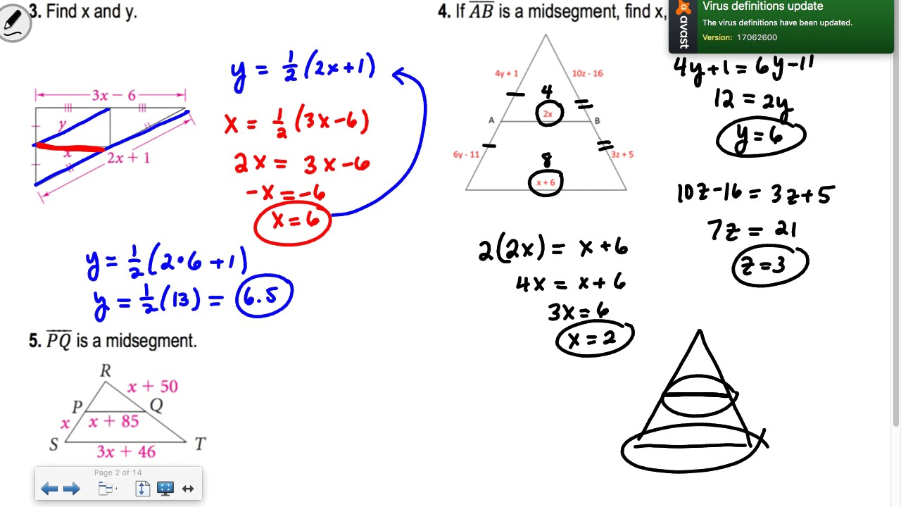 Midsegments Of Triangles Worksheet Checks Worksheet