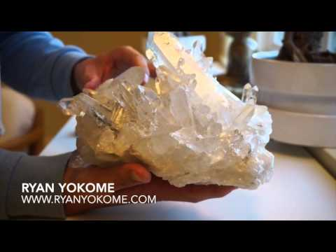 Clear Quartz Crystal For Healing & Clearing Negative Energy (Unwrapping)