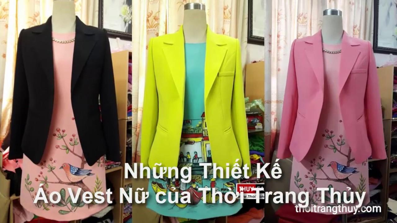 Tổng hợp mẫu áo vest nữ thu đông Thời Trang Thủy thiết kế   Women suit