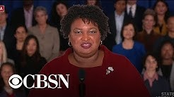 "Stacey Abrams calls for Trump to ""tell the truth"""