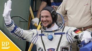 Astronaut Alexander Gerst ist zur Raumstation ISS gestartet