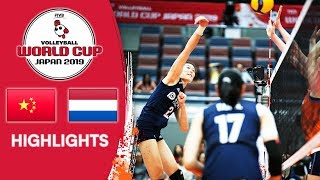 CHINA Vs. NETHERLANDS - Highlights | Women's Volleyball World Cup 2019