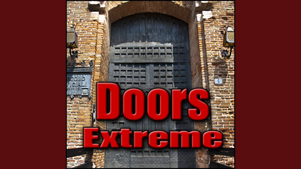 Door, Hangar - Large Metal Hangar Door: Open or Close, Warning Bell Before  Impact, Metal Doors