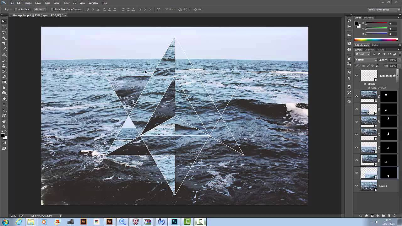 Tutorial - Hipster Geometric Design in Illustrator and Photoshop ...
