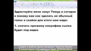 програма для изминения голоса в скайпе