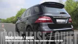 Brabus Klappenauspuff Für Ml 500 / Brabus Valve Controlled Exhaust For Ml 500
