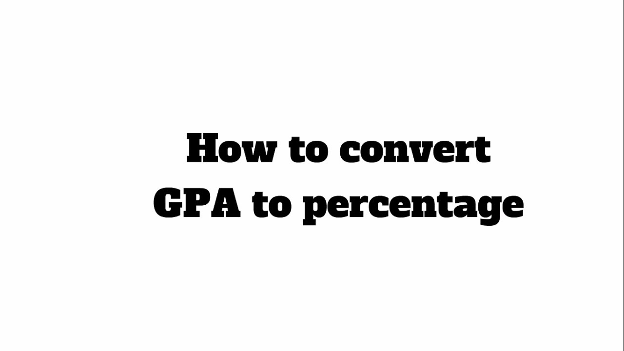 Cgpa Into Percentage Hd