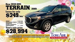 Lease a new Buick Encore or GMC Terrain for an AMAZING price this month at Tom Ahls
