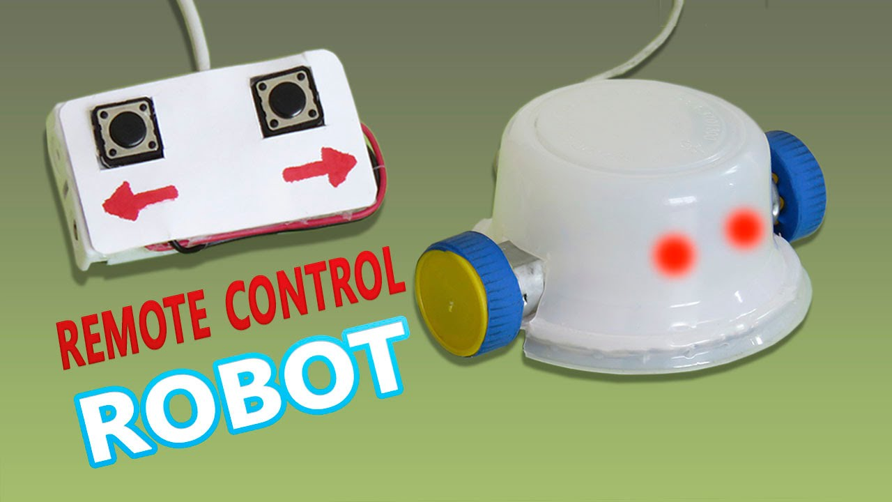 how to make a remote controlled robot basic electronic youtube