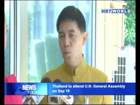 Thailand to attend U N  General Assembly on Sep 19