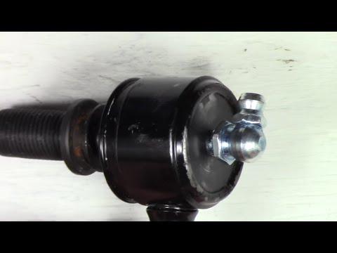 Installing Zerk Grease Fitting On Stabilizer Bar Link Testing & Lubrication Hyundai Santa Fe 01-06