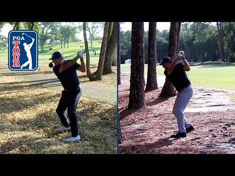 Phil Mickelson hits driver off the woods in back-to-back tournaments