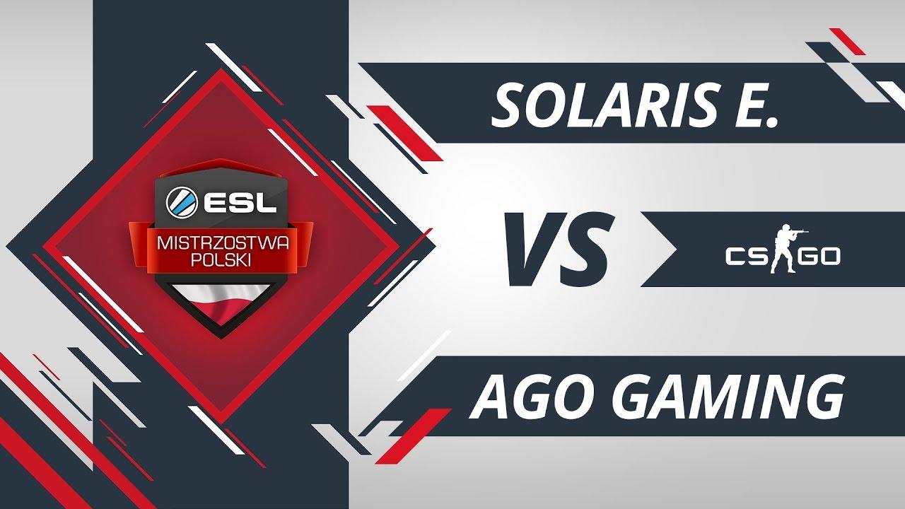 Solaris Esports vs AGO Gaming | EMP CS:GO Kolejka #3 Mapa 1