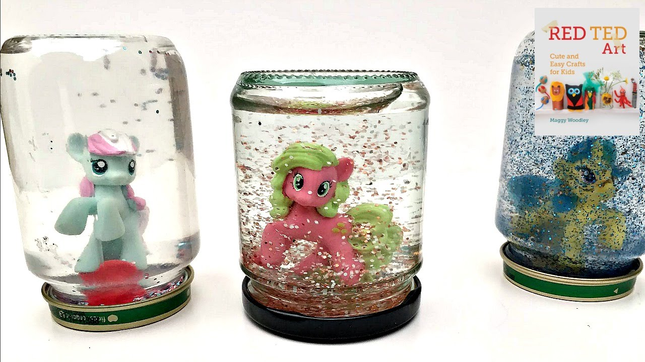 Diy Snowglobes My Little Pony Or Other Surprise Bag Toys