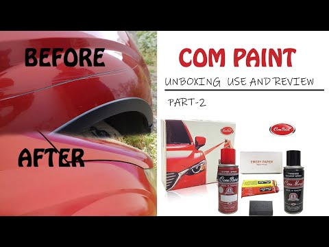 How to remove scratches from car #COM-PAINT  use and result.