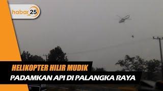 Helikopter Hilir Mudik Padamkan Api Di Palangka Raya