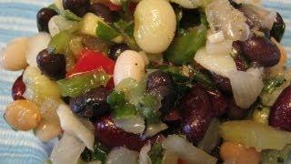 Русские блюда. Салат из фасоли