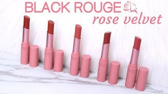 BIYW Review Chapter: #106 BLACK ROUGE ROSE VELVET LIPSTICK SWATCH & REVIEW