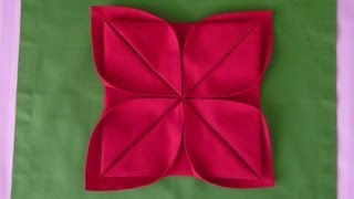 Repeat youtube video Napkin Folding - Lotus