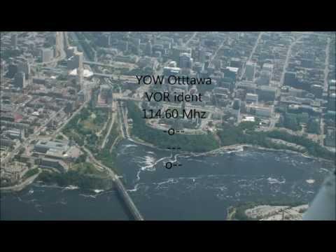 YOW Ottawa VOR 114.6 Mhz -  Ident morse code