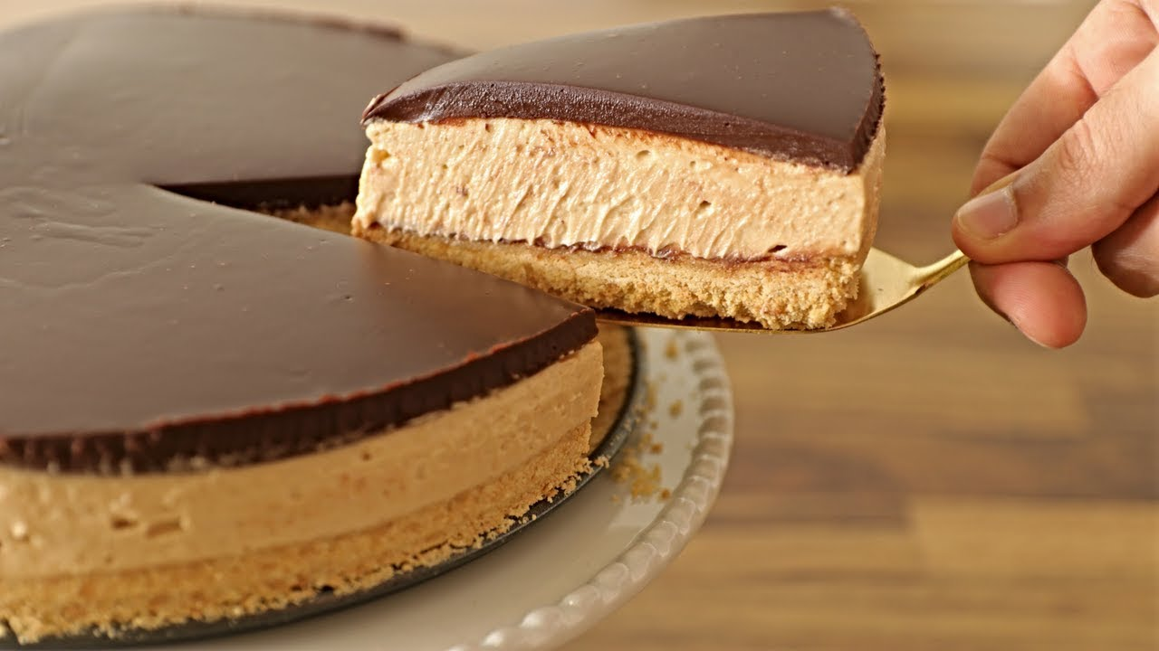No Bake Peanut Butter Cheesecake Recipe The Cooking Foodie