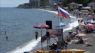 видео 2015 Крым Алушта Рыбачье элитные коттеджи обзор курорта