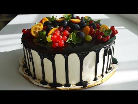 Торт на день Святого Валентина Торт СЕРДЦЕ Рецепт бисквита Оформление торта кремом