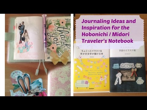 Journaling Ideas and Inspirations for your Hobonichi Midori Traveler's Notebook